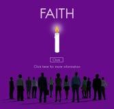 La creencia de la religión de la lealtad de la ideología de la esperanza de la fe cree concepto fotografía de archivo libre de regalías