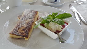 La Crepe in the Reastaurant Royalty Free Stock Photo
