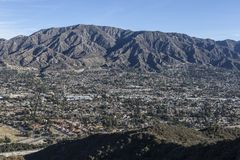 La Crescenta and Mt. Lukins in Southern California Royalty Free Stock Photo
