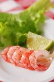 La crevette avec garnissent photo libre de droits