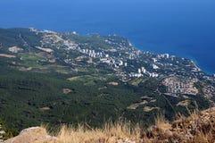 La Crimea da altezza del volo dell'uccello Fotografia Stock