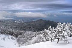La Crimea in inverno Fotografia Stock Libera da Diritti