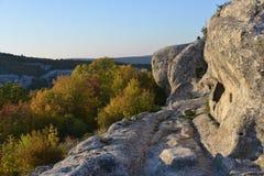 La Crimea - montagne e caverne Immagine Stock