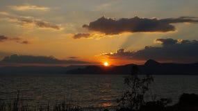 La Crimea Tiempo de la puesta del sol Fotografía de archivo libre de regalías