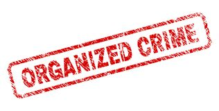 La CRIMINALITÉ ORGANISÉE rayée a arrondi le timbre de rectangle illustration stock