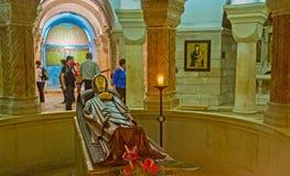 La cripta de la iglesia de Dormition Fotografía de archivo libre de regalías