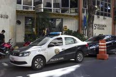 La crise économique en Rio de Janeiro affecte la police Images libres de droits
