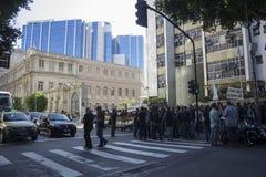 La crise économique en Rio de Janeiro affecte la police Photo stock