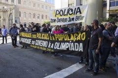 La crise économique en Rio de Janeiro affecte la police Photos stock