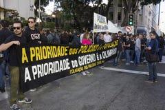La crise économique en Rio de Janeiro affecte la police Images stock