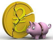 La crisi dell'economia ucraina Concetto Immagini Stock