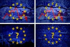 La crisi in Europa Fotografie Stock Libere da Diritti