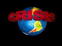 La crisi finanziaria del mondo Immagini Stock