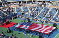La cérémonie d'ouverture du match final d'hommes d'US Open chez Billie Jean King National Tennis Center Image stock