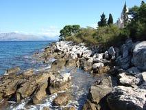 La Croatie, île de Brac, Supetar Photos stock