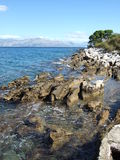 La Croatie, île de Brac, Supetar Photo libre de droits