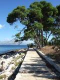 La Croatie, île de Brac, Supetar Image libre de droits