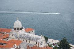 La Croatie. Cathédrale de rue James - Sibenik Photographie stock libre de droits