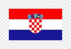 La Croatie - drapeau national illustration de vecteur