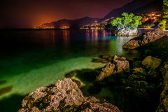 La Croatie est étonnante par nuit photos libres de droits