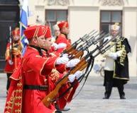 La Croatie/garde d'honneur Battalion/aligné Photographie stock libre de droits