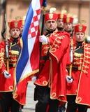 La Croatie/garde d'honneur Battalion/porteur standard Images stock