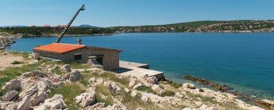 La Croatie, Kvarner, île de Krk, ville de silo Photographie stock libre de droits