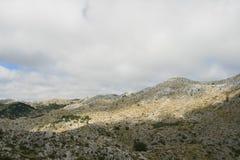 La Croatie/montagnes/beauté de karst image stock