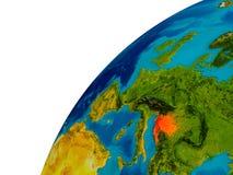 La Croatie sur le globe Photographie stock