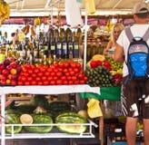 La Croatie, Trogir, marché coloré d'air ouvert Image stock