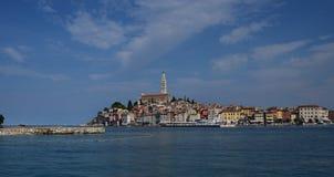 La Croatie, la ville de Rovinj La vieille partie de la ville image stock