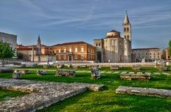 La Croatie, ville pittoresque de Zadar au Balkan images stock