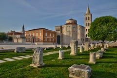 La Croatie, ville pittoresque de Zadar au Balkan photographie stock