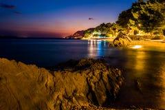 La Croazia è stupefacente al tramonto fotografie stock libere da diritti