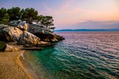 La Croazia è stupefacente al tramonto fotografie stock