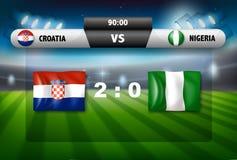 La Croazia contro il gioco di calcio della Nigeria Fotografie Stock