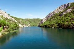 La Croazia Il Croatia Cascata Fotografia Stock