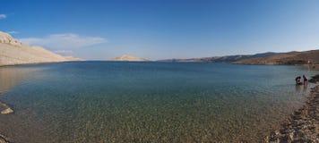 La Croazia, isola del PAG, Rucica, spiaggia, baia, deserto, paesaggio, rilassamento, festa, Europa, isola del PAG Immagine Stock
