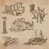 La Croazia Pacchetto disegnato a mano di vettore illustrazione vettoriale