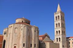 La Croazia, Zadar - chiesa in anticipo di Romani della st Donata costruita nel IX secolo, uno dei simboli di Zadar fotografia stock