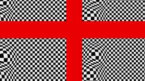 La croce rossa sulla base in bianco e nero con il rigonfiamento di effetto illustrazione vettoriale