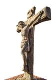 La crocifissione di Gesù in pietra Fotografia Stock Libera da Diritti