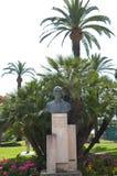 Geroge pompidou monument at la Croisette boulevard in Cannes. La Croisette boulevard in Cannes and monument to George Pompidou stock images