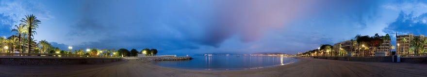 la croisette cannes пляжа Стоковое Изображение RF