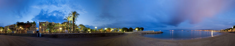 la croisette cannes пляжа Стоковое Изображение