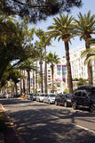 La Croisette in Cannes Royalty Free Stock Photography