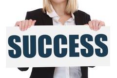 La croissance réussie de succès finance le leade de concept d'affaires de carrière Image libre de droits