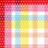 La croix colorée douce blanche de modèle de point de polka d'étoile a barré le backgr Images libres de droits