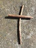 La croix de brindille Photo libre de droits