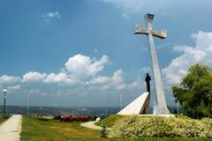 La croix de la confiance dans Przemysl, Pologne image libre de droits